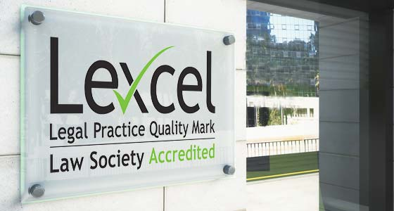 Lexcel Legal Practice Quality Mark Accredited Law Firm